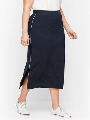 UPF 50+ Side Slit Midi Skirt