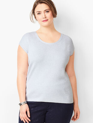 Cap-Sleeve Sweater - Metallic