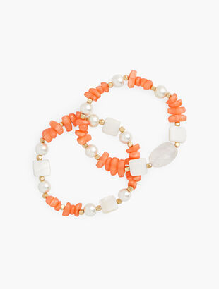 Beach Beads Stretch Bracelet