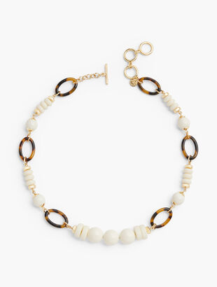 Ivory & Tortoise Short Necklace