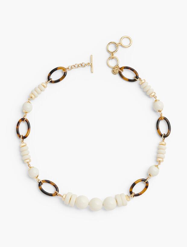 Ivory & Tortoise Short Necklace