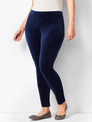 Luxe Velour High-Waist Leggings
