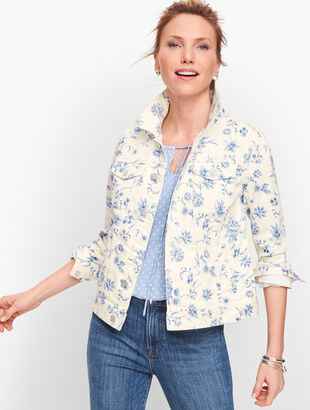 Classic Jean Jacket - Toile Print