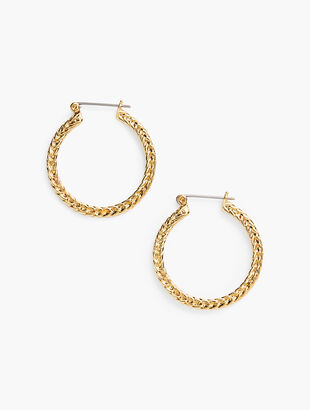 Braided Hoop Earrings