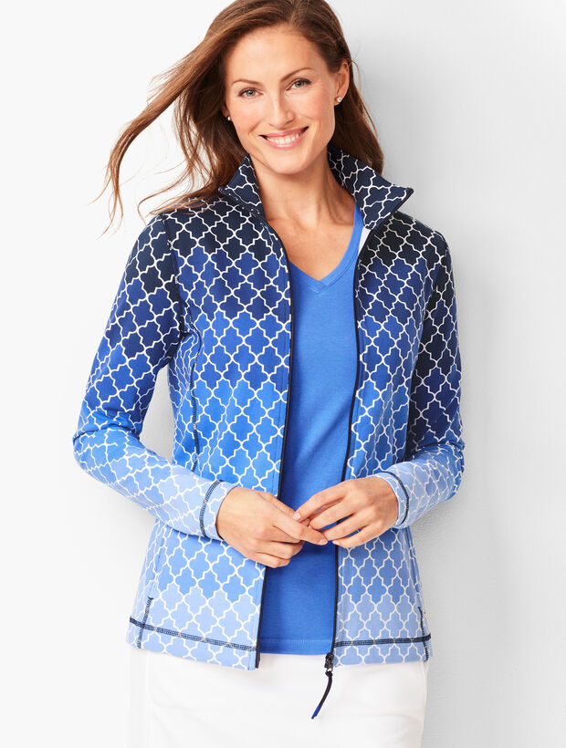 Everyday Yoga Jacket - Ombré Geo-Print