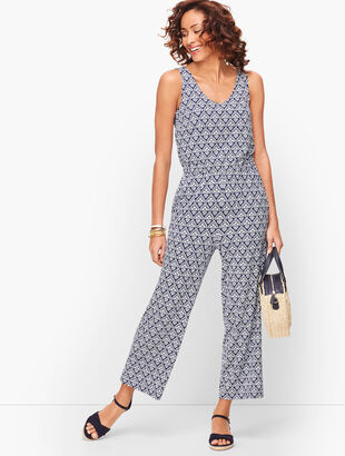 Twist Back Medallion Jumpsuit
