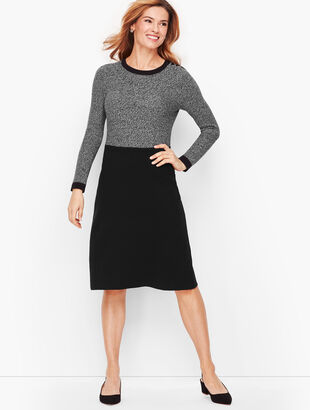Marled Colorblock Sweater Dress