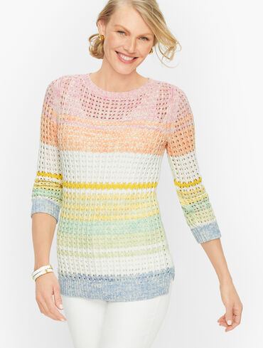 Open Stitch Cotton Sweater