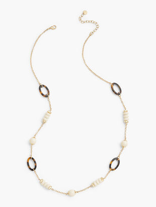 Ivory & Tortoise Long Necklace