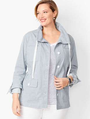 Stripe Twill Jacket