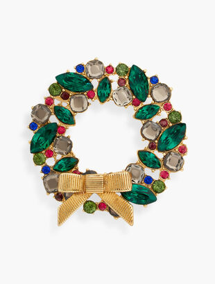 Holiday Wreath Brooch