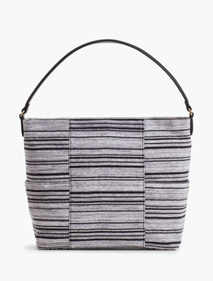 Striped Hobo Bag
