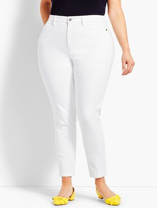 Plus Size Comfort Stretch Denim Jeggings - Curvy Fit/White