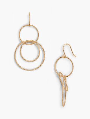 Interlock Hoop Drop Earrings