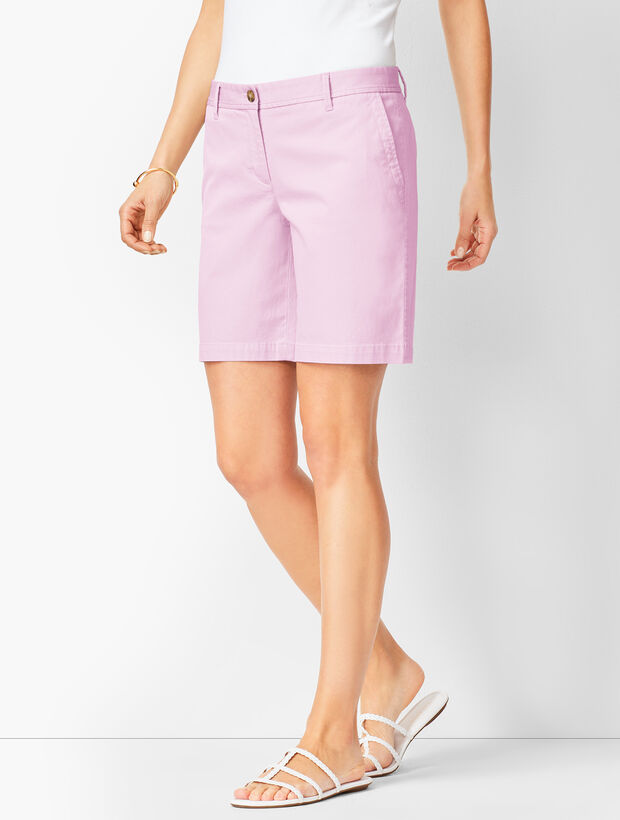 Girlfriend Chino Shorts - Solid