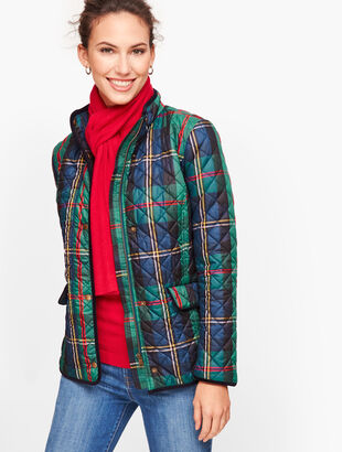 Plaid Diamond Quilted Jacket