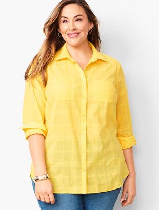 Classic Cotton Shirt - Textured Plaid