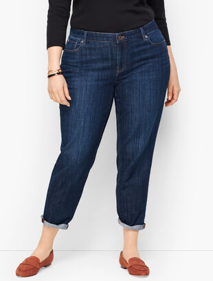Girlfriend Jeans - Genuine Dark Wash - Curvy Fit