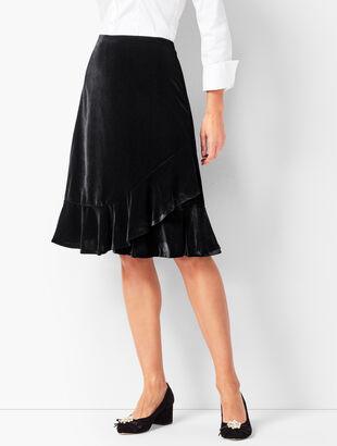 Draped Velvet Skirt