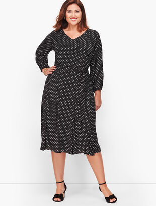 Ditsy Dot Fit & Flare Dress