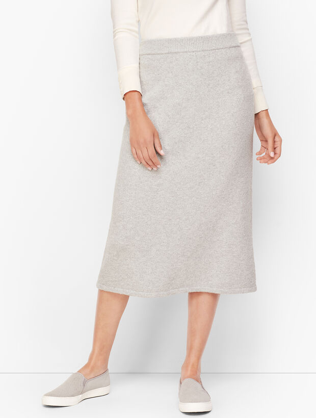 Luxe Knit Long Pencil Skirt