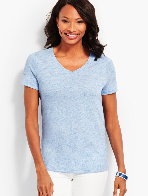 Space-Dyed V-Neck Tee