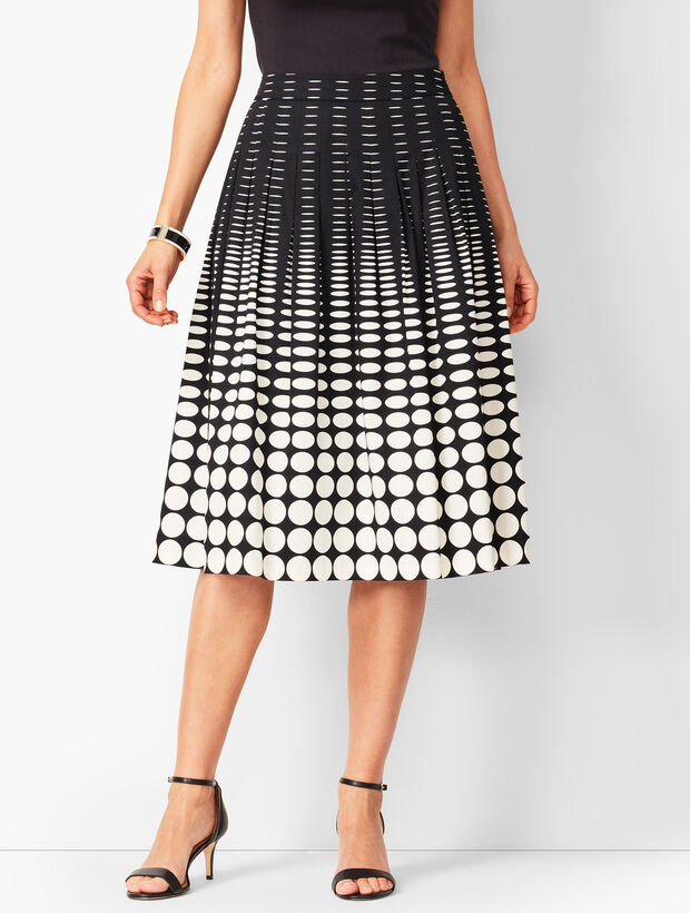Geo-Print Pleated Full Skirt