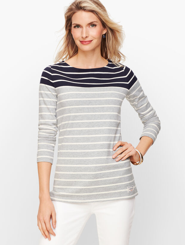 Authentic Talbots Tee - Wellington Stripe
