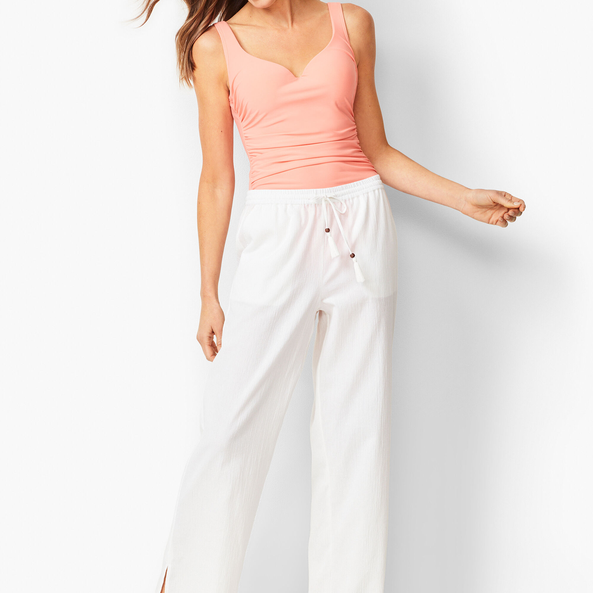 ff96874226 Crinkle-Cotton Beach Pants - Solid