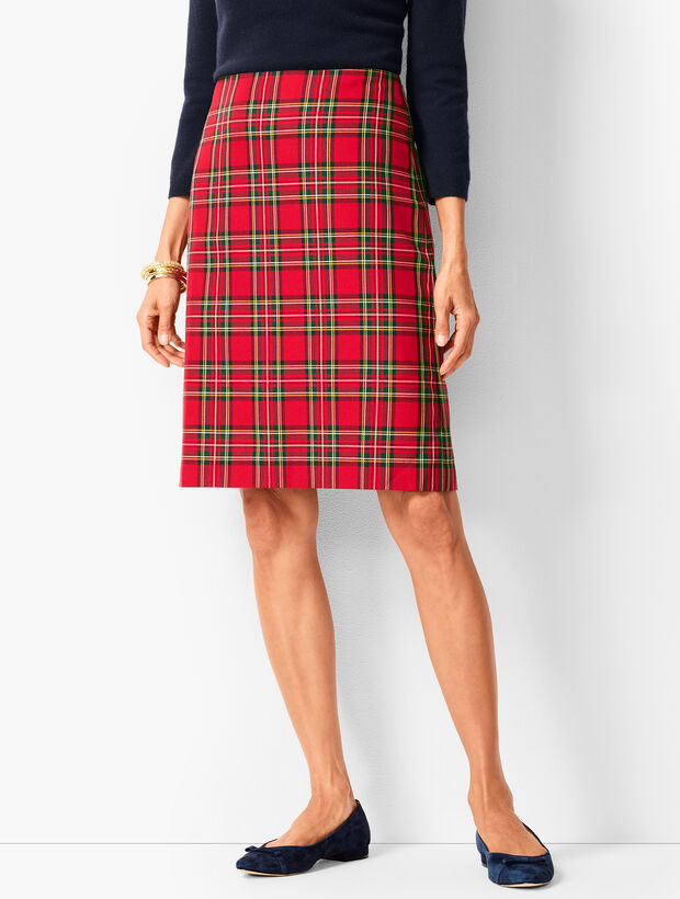 Tartan Plaid A-Line Skirt