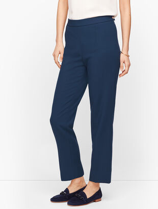 Luxe Double Weave Slim Ankle Pants