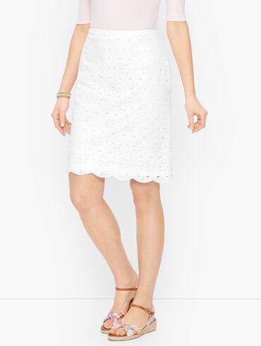 Eyelet Canvas Skirt