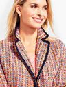 Tweed Contrast-Trim Jacket