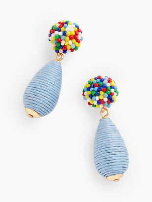 Thread Wrapped Drop Earrings