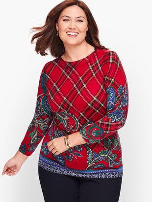 Paisley & Plaid Merino Sweater
