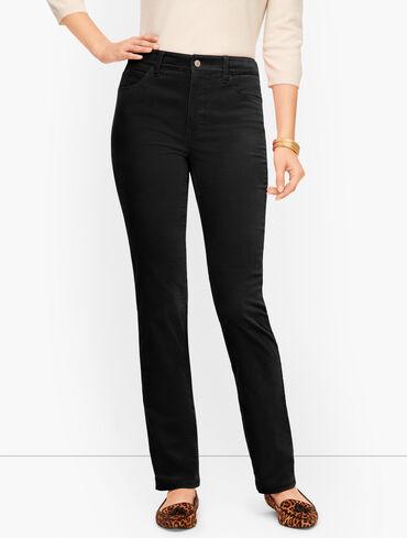 Stretch Velveteen Straight Leg Pants