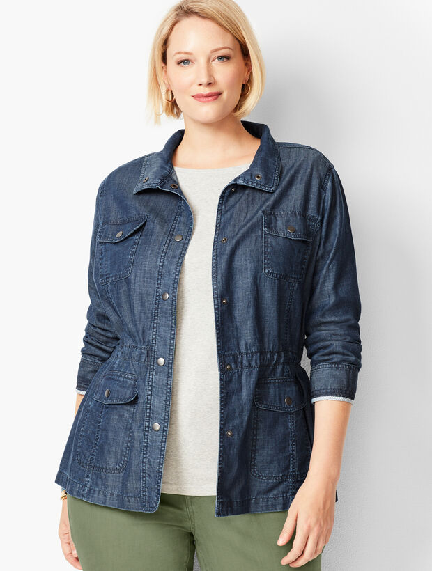 Casual Drawcord Jacket - TENCEL™ Blend