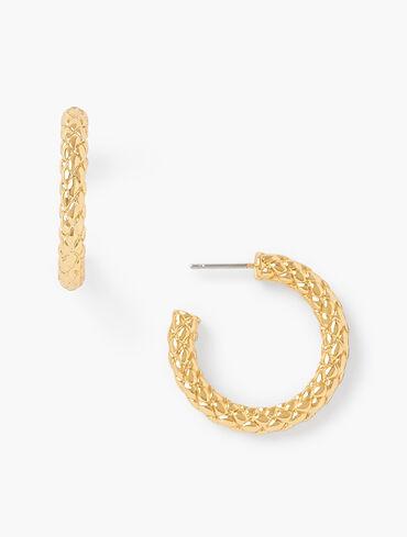 Basket Hoop Earrings