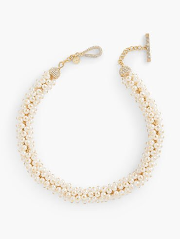 Festive Pearl Short Necklace