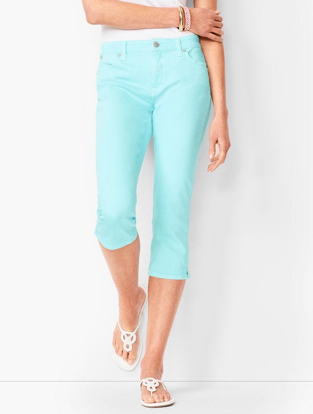 Denim Pedal Pushers - Garment-Dyed