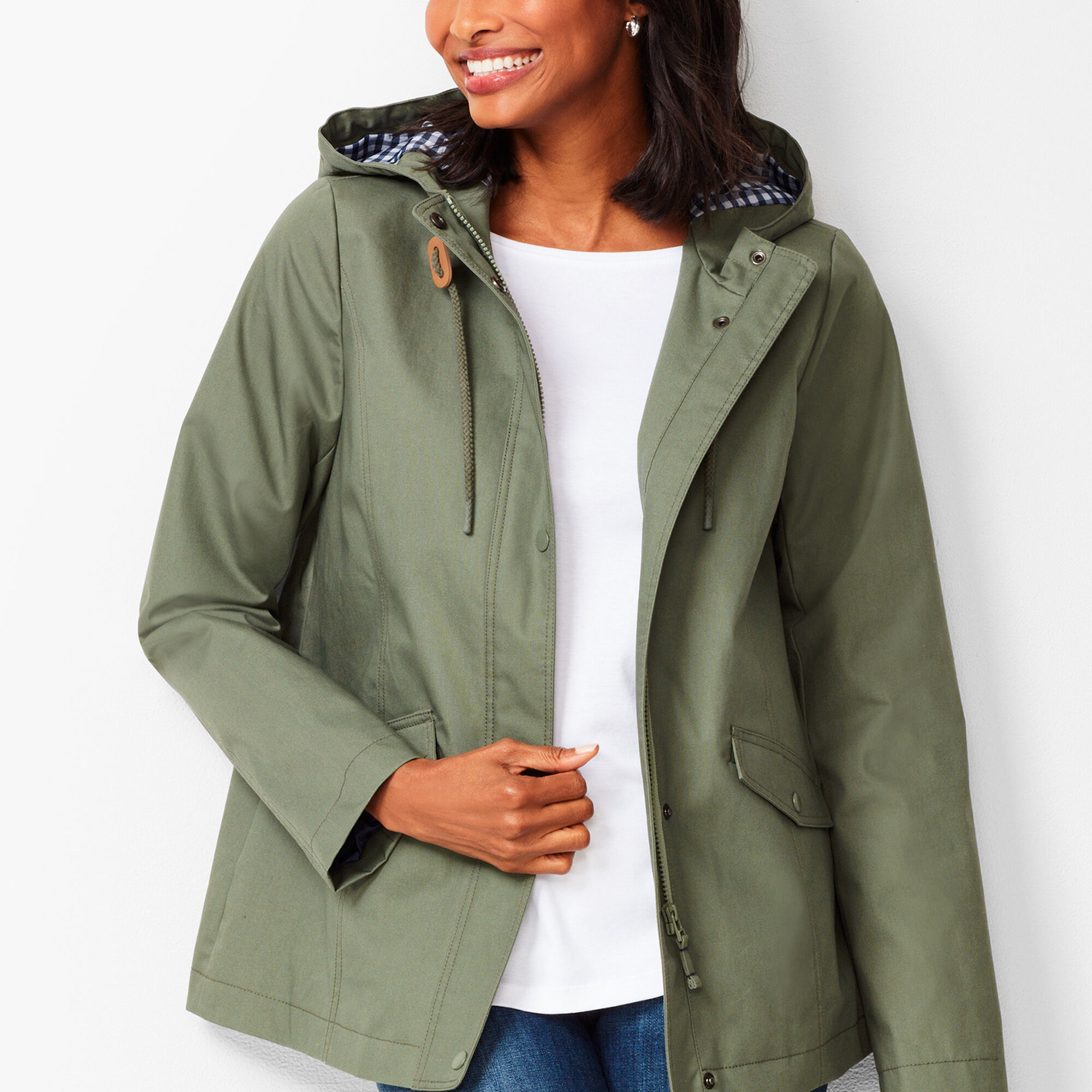 c8c729636597a Water-Resistant Cotton Anorak   Talbots