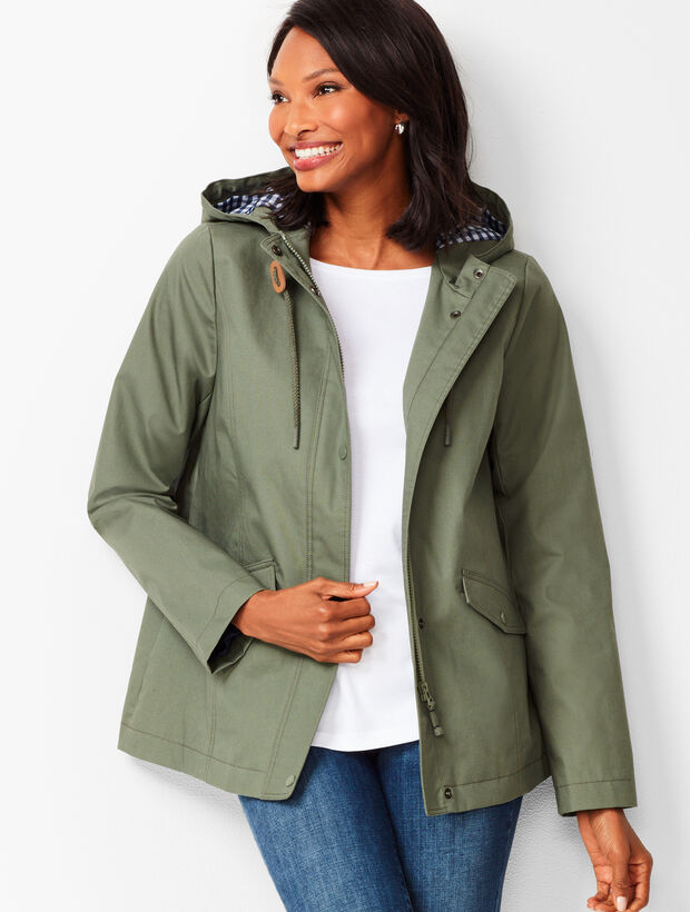 Water-Resistant Cotton Anorak