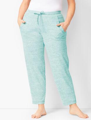Brushed Mélange Slim-Leg Pants