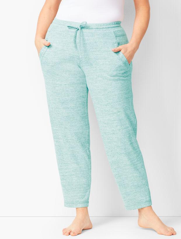 05e9c6d628d5f8 Brushed Mélange Slim-Leg Pants   Talbots