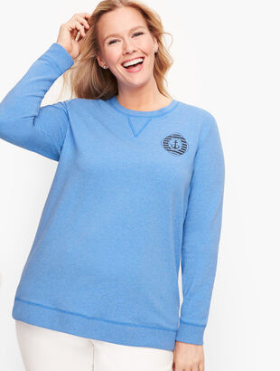 French Terry Sweatshirt - Blue Wave