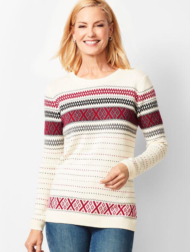 Criss-Cross Fair Isle Sweater