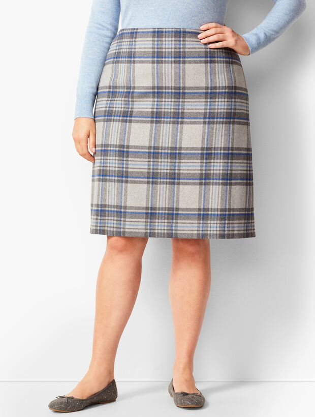 Twill A-Line Skirt - Brushed Plaid