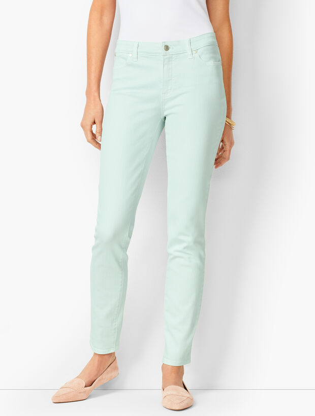 Slim Ankle Jeans - Light Cool Mint