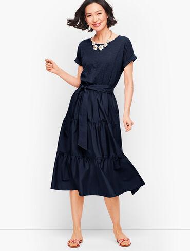 Poplin Skirt Fit & Flare Dress