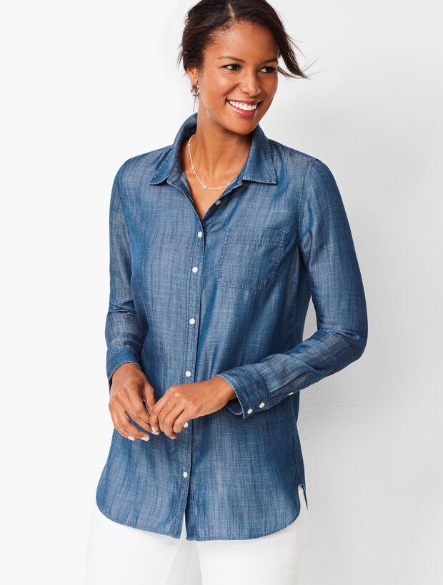 Classic Shirt - TENCEL® - Dark Sea Wash